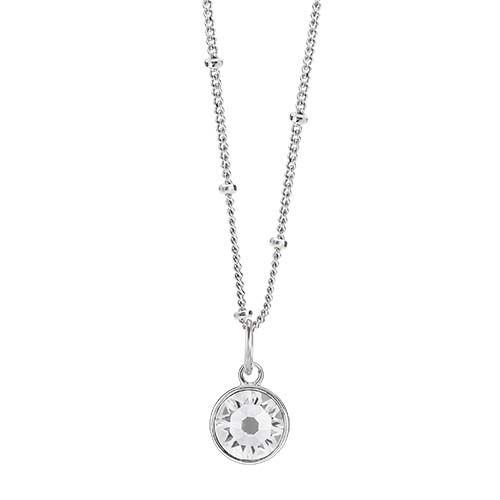 LB1045 April Swarovski Birthstone Silver CORE Gift Set